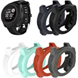 SplenSun for Garmin Instinct Watch Replacement Covers Cases,Silicone Protective Cover Rugged Armor Anti-Scratch Bezel Protect