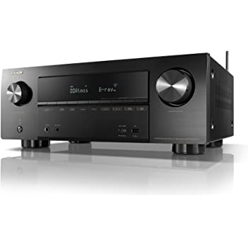 DENON AVレシーバー 7.2ch Dolby Atmos/DTS:X/4K HDR/HEOS/Airplay2対応 ミドルクラス ブラック AVR-X2500H-K