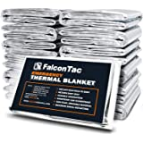 Falcon Emergency Thermal Blanket, Pack of 10 Space Blanket, Survival Blanket -Mylar Blanket Designed NASA| Perfect for Outdoo