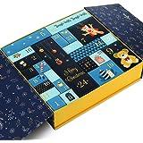GWHOLE Christmas Goody Gift Box, Christmas Advent Calendar Box Gift Boxes for Gift Christmas Party Decoration Gift Wrapping B