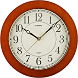 CASIO(カシオ) 掛け時計 ブラウン 直径26cm アナログ 木枠 IQ-131S-5JF