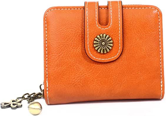 ZAYE 二つ折り財布 レディース ミニ財布 かわいい レザー 小銭入れ は小さくてかわいくて、持ち運びに便利です …