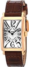 [フランクミュラー]FRANCK MULLER 腕時計 ロングアイランド シルバー文字盤 K18PG無垢ケース クロコ革 902QZSLV-BRW5N レディース 【並行輸入品】