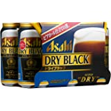 Asahi Super dry Black Beer, Pack of 6 x 350ml