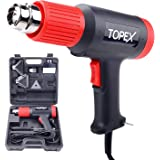 TOPEX Heat Gun Hot Air Heating Tool Kit Dual Speed w/ 5 Accessories Storage Case