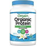 Orgain Organic Plant Based Protein & Greens Powder, Vanilla Bean - Vegan, Dairy Free, Gluten Free, Lactose Free, Soy Free, Lo
