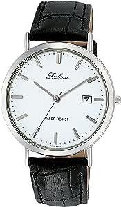 [シチズン Q&Q] 腕時計 アナログ 防水 日付 革ベルト D020-301 メンズ ホワイト