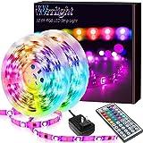 Led Strip Lights 32.8FT/10M, Color Changing Light Strip with 44-Keys Remote, 600LEDs Bright RGB LED Lights, DIY Color Options