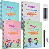 Magic Practice Copybook for Kids,Magic Practice Copybook,Practice Copybook for Age 3-5 Calligraphy Simple Hand Lettering
