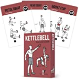 Exercise Cards Kettlebell Home Gym Workouts HIIT Strength Training Build Muscle Total Body Fitness Guide Training Routines Bo