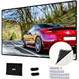 Projector Screen, Upgraded 180 inch 4K 16:9 HD Portable Projector Screen, Premium Indoor Outdoor Movie Screen Anti-Crease Pro