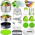 87 Pcs Pressure Cooker Accessories Set Compatible with Instant Pot Accessories 6 Qt 8 Quart, 2 Steamer Baskets, Springform Pa
