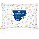 Toddler Pillow,13X18 Soft Baby Pillows for Sleeping, Machine Washable Kids Pillow with Cotton Pillowcase, Perfect for Travel,