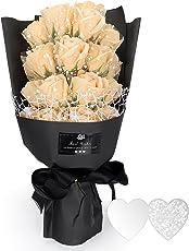 YOBANSA 枯れない花 花束 ソープ フラワー プレゼント ギフト フレグランス ギフトボックス付 お祝い 記念日 お見舞い バレンタインデー ホワイトデー 父の日