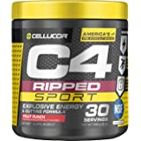 C4 Ripped Sport Pre Workout Powder Fruit Punch | NSF Certified for Sport + Sugar Free Preworkout Energy Supplement for Men &