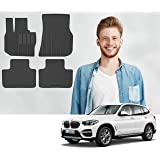 Road Comforts Custom Fit BMW X3 G01, X4 G02 2018, 2019, 2020 All Weather Floor Mats, Front and Second Row (4pcs) (Black)