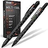 RAK Multi-Tool 2Pc Pen Gift Set - LED Light, Touchscreen Stylus, Ruler, Level, Bottle Opener, Phillips Screwdriver, Flathead,