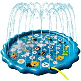 "Sprinkler Play Pad for Kids - 68"" Splash Pad Outdoor Water Toys for Toddlers, Fun Backyard Fountain Play Mat, Baby Wading Swi"