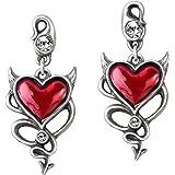 Devil Heart Pair of Earrings by Alchemy UL17