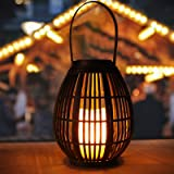 Solar Large Lanterns Outdoor Hanging, Golwof Outdoor Garden Hanging Lights Decorative Waterproof Flameless Candle Mission Lig