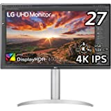 【Amazon.co.jp 限定】LG 4Kモニター 27インチ 27UP850-W(3年保証付/広視野角/HDR/IPS非光沢/DCI-P3 95%/フリッカーセーフ/USB-Type-C、HDMI×2/高さ調整/回転)