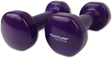 Tunturi Vinyl Dumbells in 1, 2, 3, 4, 6, 8 and 10 LB Color Coded Weights