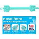 Nose Hero Soft Baby Nose Cleaner Gadget | 100% Flexible Safety Rubber Tips for Infants Ears and Nose Relief | Made in USA | E
