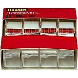 3M スコッチ テープ 透明テープ ディスペンサー付 19mm×21.5m 小巻 4巻 4184