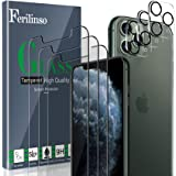 Ferilinso Screen Protector for iPhone 11 Pro with 3 Pack Camera Lens Protector, 3 Pack Tempered Glass Film for iPhone 11 Pro