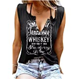 Smooth As Tennessee Whiskey Sweet As Strawberry Wine Shirt Ring Hole Sleeveless V-Neck Tank Top Womens Country Music Tee