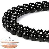BEADNOVA 4-10mm Gemstone Round Loose Beads for Jewelry Making