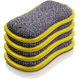 E-Cloth Washing Up Pad Microfiber Sponge Alternative, 4 Pack, Yellow, 4 Piece