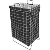 HOUZE - Black Chickened Laundry Bag with Matt Gold Steel Frame