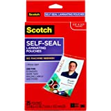 Scotch Self-Sealing Laminating Pouches for Business Cards/ID Protector with Clips LS852