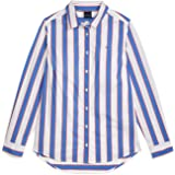 Tommy Hilfiger Women's Adaptive Stripe Shirt with Magnetic Buttons, Blue Iolite-PT/Multi