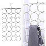 WINOMO 2 Pcs Scarf Hanger Organizer Holder, Multifunctional 28 Count Loops Scarf Racks, Tie Racks Closet Organizer and Storag
