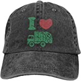 Waldeal Toddler Boys' I Love Garbage Truck Hat Distressed Adjustable Kids Trash Baseball Cap