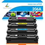 True Image Compatible Toner Cartridge Replacement for HP 206A 206X W2110A W2110X for HP Color Laserjet Pro M255dw MFP M283fdw