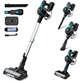 INSE Stick Vacuum Cleaner Cordless, 2 in 1 Upright Handheld Vac Portable&Lightweight Bagless Electric Broom - for Pet Hair Ca