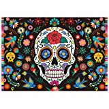Allenjoy 7x5ft Day of The Dead Backdrop for Mexican Fiesta Sugar Skull Flowers Photography Background Dia DE Los Muertos Birt