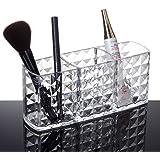 Acrylic Makeup Organizer Diamond Pattern 3 Compact Clear Cosmetics Makeup Drawer Organizer Makeup Holder Organizer For Vanity