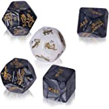 Lorgork Adult Sex Dice Set for Couples Naughty, 36-Position Instructional Booklet for Couple Adult Lover Sex Love Game Toy, B