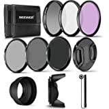 Neewer 58MM Professional UV CPL FLD Lens Filter and ND Neutral Density Filter(ND2, ND4, ND8) Accessory Kit for Canon Rebel an