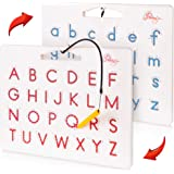 Povitrulya Magnetic Alphabet Tracing Board - double-sided upper & lower case Magnetic Drawing Board, ABC magnets for learn to