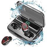 【LEDディスプレイ】Bluetooth イヤホン イヤレス イヤホン IPX7防水 AAC対応 LEDディスプレイ電量…