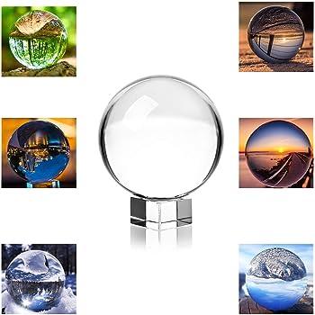 スタンド付き透明水晶球 (80mm(クリスタルの台座))