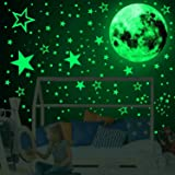 Home-Mart 3D Glow in The Dark Stickers, 435pcs Luminous Dots Stars and Moon DIY Wall Stickers for Ceiling Or Walls, Glow Brig