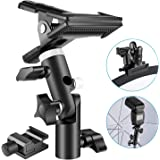Neewer Photo Studio Heavy Duty Metal Clamp Holder and Cold Shoe Adapter for Clamping Reflector or Mounting Speedlite Flash an