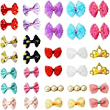 pony princess Dog Bows Hair Accessories with Clip Pet Grooming Products Puppy Small Bowknot Handmade Mix Styles Small Middle