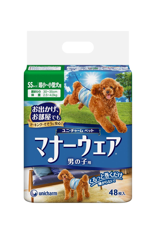 ユニチャーム ケース販売 マナーウェア男の子用 SSサイズ超小〜小型犬用